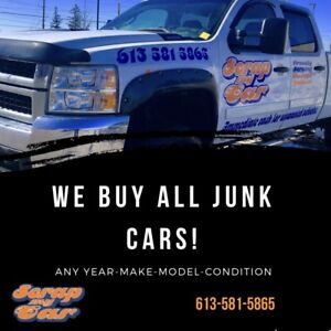SCRAP MY CAR! OPEN SATURDAY AND SUNDAY!