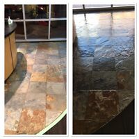 Restorative Stone Tile Refinishing: Slate, Granite, Marble