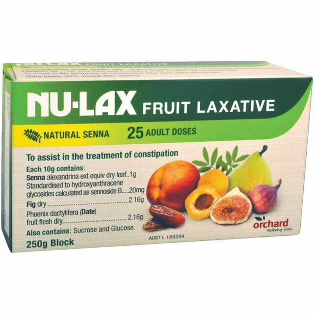Nulax Fruit Laxative 250g Dried Fruit, Ground Senna Leaf, Sugar & Glucose