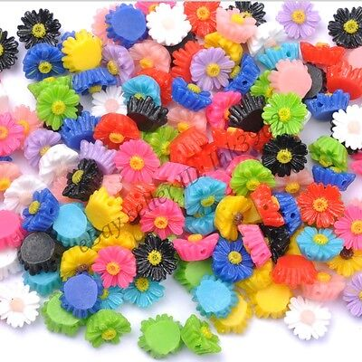 Sunflower Resin - DIY 20Pcs Resin Sunflower Flower Flat Back Scrapbooking For Phone/ Craft 12MM
