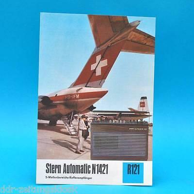 Stern Automatic N 1421 Kofferempf. 1974 | Prospekt Werbung DEWAG Werbeblatt R121