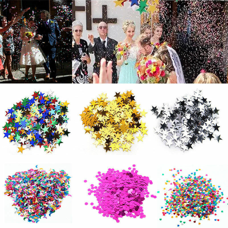 15g Wedding Sparkle Scatter Stars Table Confetti Foil Birthd