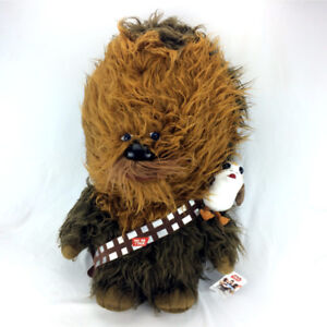 Jumbo Chewbacca Plush Talking Stuffed Animal & Porg Large 25""