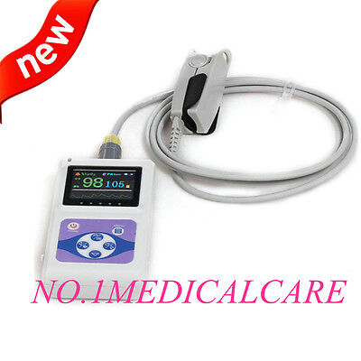 New Hand-held Pulse Oximeter Big Screen Usb Pc Analysis Software Cms60d