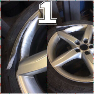 WHEELS/RIMS::REFURBISH::REFINISH::CURB RASH::REPAIRS