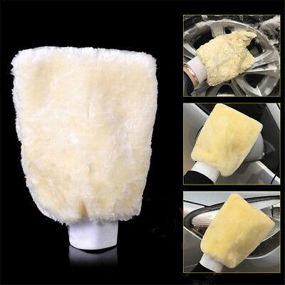 1X Microfiber Plush Car Care Detailing Soft Wash Mitten Washing Glove Cleaning