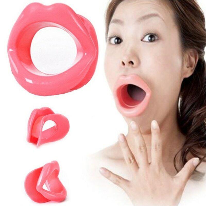 Gesichtstrainer Abnahme Silikon Gummi Gesicht Slimmer Mund Lippen Trainer