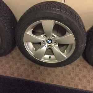 17 inch bmw winter tire from goodyear Strathcona County Edmonton Area image 2