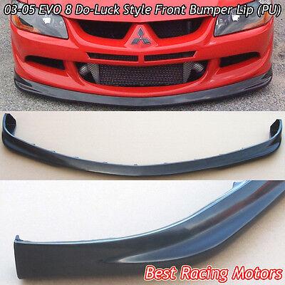 Do Luck Style Front Bumper Lip Urethane Fits 03 05 Mitsubishi EVO 8