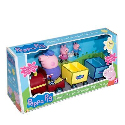 New Peppa Pig On Grandpa Pig's Train With Sound & Figures ()