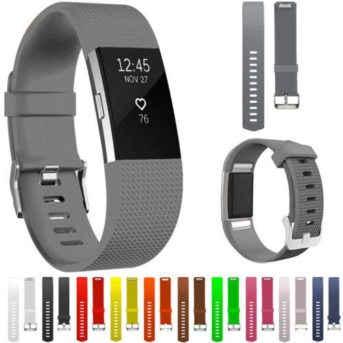 RICAMBIO SILICONE cinturini orologi BELLO per Fitbit Charge 2 Fitness 2017