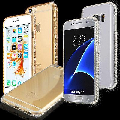 Für iPhone 8 / 7 / 6Plus Handy Schutz Hülle Silikon Strass Bumper Tasche Zubehör - 6 Plus Zubehör