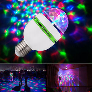 E27 3W Colorful Auto Rotating RGB LED Bulb Stage Light Party Lam