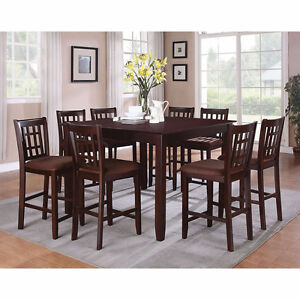 9-Piece Counter Height Dining Set with Butterfly Leaf (seats 8)