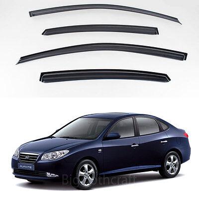 New Smoke Window Vent Visors Rain Guards for Hyundai Elantra 2007 - 2010