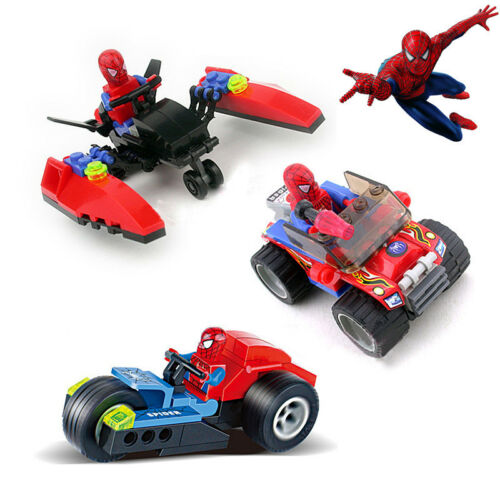 Fun Super Hero Spider-Man Figures Building Blocks Kids Children Baby DIY Toy Set