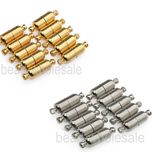 10-Sets-Silver-Plated-Gold-Plated-Oval-Magnetic-Clasps-19mm-Free-Shipping