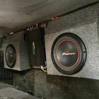 """2 10"""" Subs and Fusion Powerplant Amp for 1994-2002 Dodge Truck"""