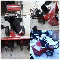 Parting out 826 MTD Mastercrafts snowblower