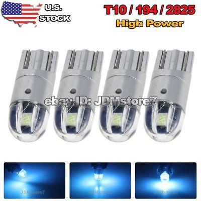 5 Projector Light Bulb - 4x Projector Lens T10 Ice Blue LED 3030 Wedge Light Bulb W5W 194 168 2825 192