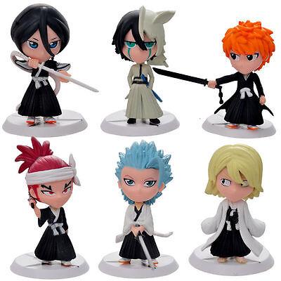 Bleach 6pc PVC Mini Figures Set: Ichigo Rukia Renji Kisuke Ulquiorra & Toshiro