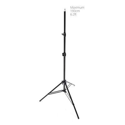 Photo Studio 1.9m 6.2ft Light Stand Adjustable Tripod for Softbox Flash Lighting
