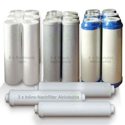 2 Ersatz-wasser-filter (ERSATZFILTERSET 3 Jahre Umkehrosmose Osmose Wasserfilter, 21 Ersatzfilter, SET 2)