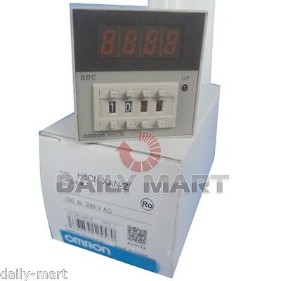 Omron Timer H5cn-xzns H5cnxzns 100-240vac New In Box Nib Free Ship