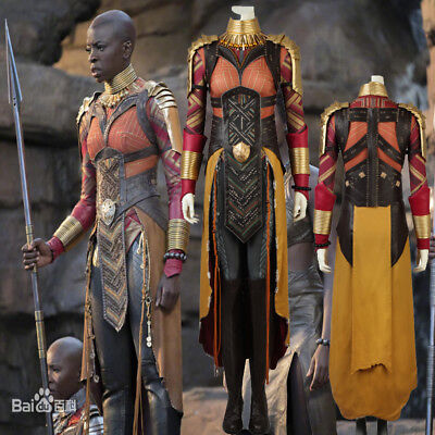 Hot Cakes 2018 Movie Black Panther Okoye Cosplay Costume Halloween Outfit Shoes - Cake Halloween Costume