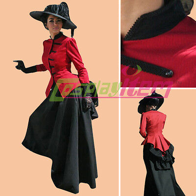 Red Black Victorian Civil War Ball Gown Southern Belle Dress Halloween Costume](Black Ball Gown Halloween Costumes)