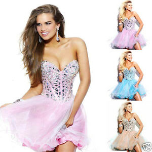 New-Stock-Short-Mini-Cocktail-Evening-Party-Prom-Dress-Gown-Size-XS-S-M-L-XL-2XL