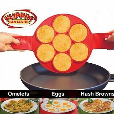 STAMPO PER PANCAKE UOVA OMELETTE IN SILICONE ANTIADERENTE MICROONDE DOLCI