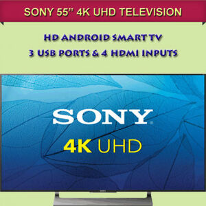 "BRAND NEW IN BOX 55"" SONY 4K HD ANDROID SMART TV"