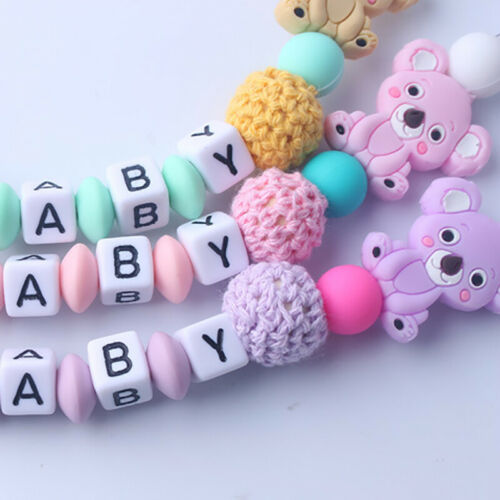 Silicone Beaded Clip Holder Strap Pacifier
