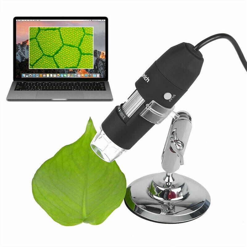 8LED 1600X 10MP USB Digital Microscope Endoscope Magnifier Camera w/ Stand