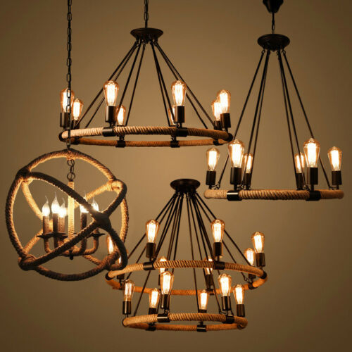 Rope Chandelier Pendant Light Restoration Hardwire Lighting