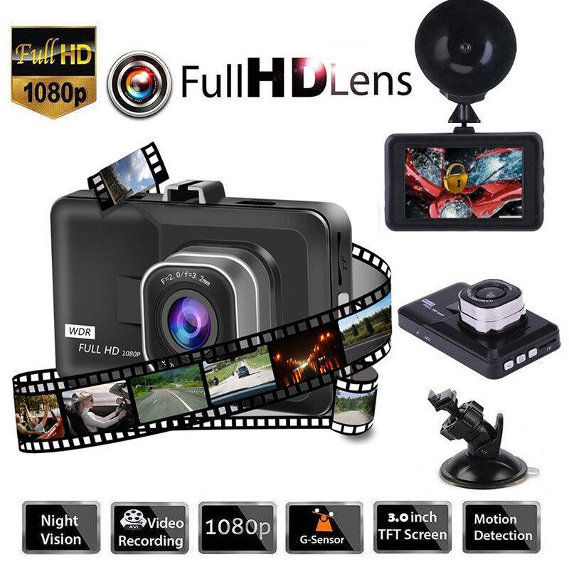 "Professional Car Dash Dashboard Video Camera Video Recorder 3.0"" 1080P DVR Cam"