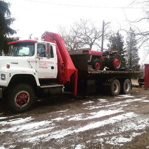 1989 FORD L8000 crane/rolloff Truck