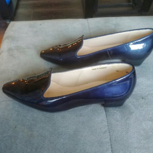 Navy patent leather