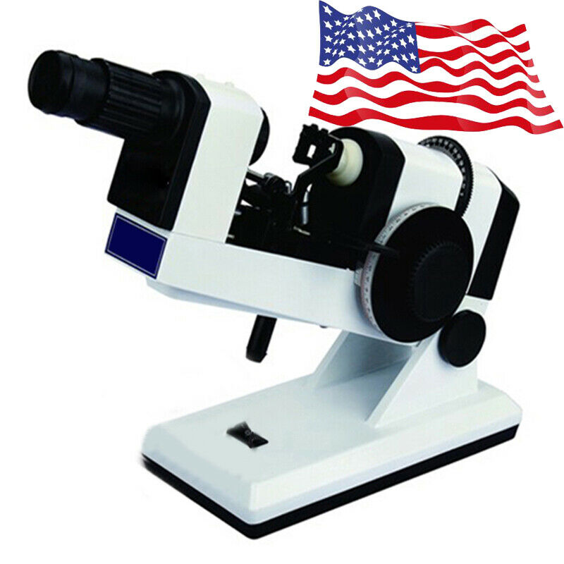 Manual Lensmeter Focimeter Optometry Ophthalmology Measuring Instrument USPS