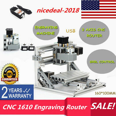 Mini 3 Axis Mini Engraving Engraver Machine 1610 Cnc Router Milling500mw Laser