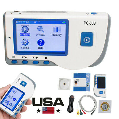 Ecg Ekg Machine Electrocardiogram Heart Rate Monitor Record Machine Pc-80b Usb