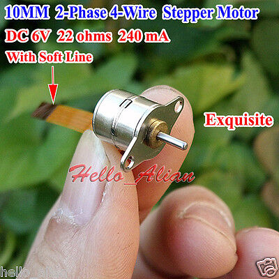 Dc 6v 2-phase 4-wire Micro 10mm Stepper Motor Mini Stepping Motor With Soft Line