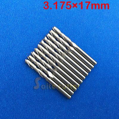 10pcs Double Flute Spiral Cutter Wood Cnc Router Bits 18 3.175mm 17mm