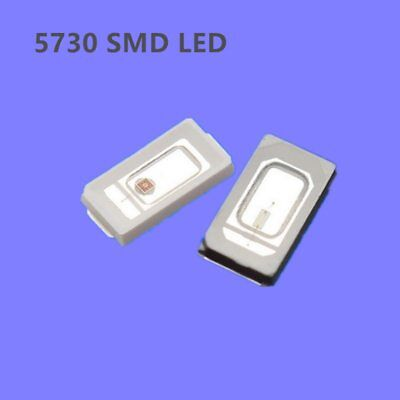 50pcs 5730 Purple Uv Led Ultraviolet Super Bright Light Smd Chip Emitting Diode