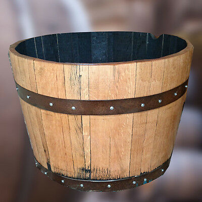 Half Whisky Barrel - Refurbished & Varnished Planters - High quality solid oak