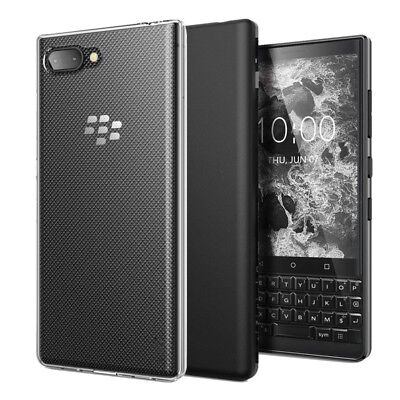 For BlackBerry KEY2 / KEY2 LE Slim Gloss Soft Gel TPU Silicone Case Skin (Blackberry Silicone Skin Case)