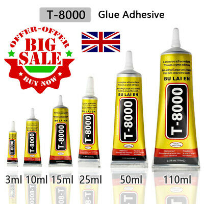 Phone Repair Glue jewellery Repair T8000 3ml-110ml Rhinestones Gems Craft  Glue