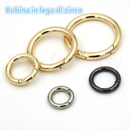 Portachiavi porta scorrevole anello a molla accessori per bagagli moschettone