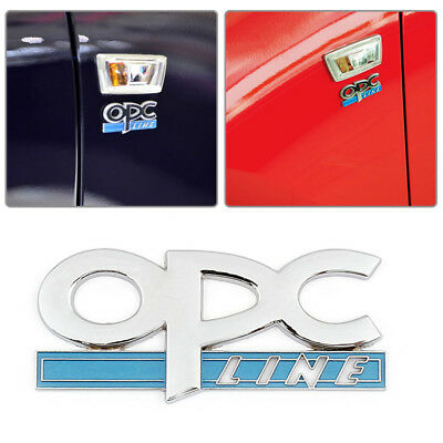 OPC LINE FOR VAUXHALL CHROME DOOR TAILGATE BADGE STICKER CORSA ASTRA ZAFIRA VXR for sale  Shipping to Ireland